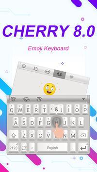 Cherry 8.0 Theme&Emoji Keyboard screenshot 2