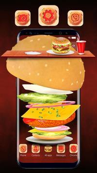 3D Fried Chicken Burger Theme poster