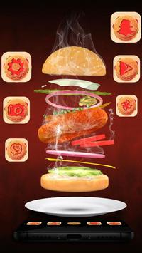 3D Fried Chicken Burger Theme apk screenshot
