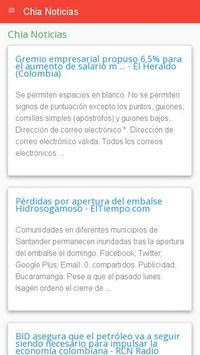 Noticias de Chía apk screenshot