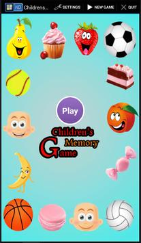 Children's memory game poster