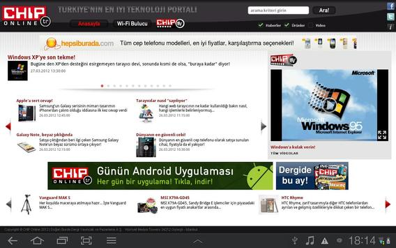 CHIP Online Tablet poster