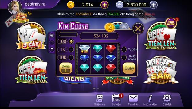 ZIP Club - Game bài triệu phú apk screenshot