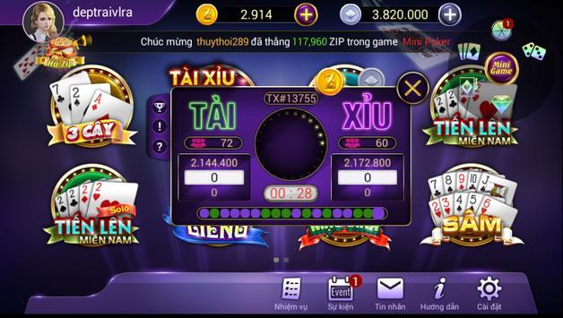 ZIP Club - Game bài triệu phú poster
