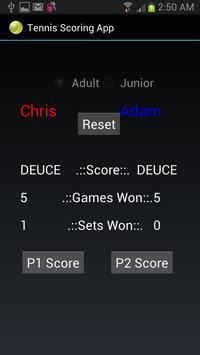 Tennis Scoring App screenshot 1