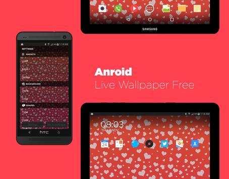 Hearts Live Wallpaper Free apk screenshot