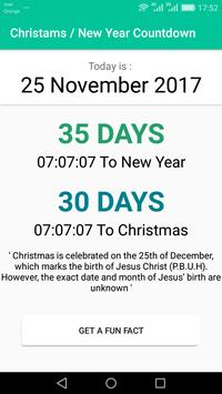Christmas / New Year Countdown 2017 poster