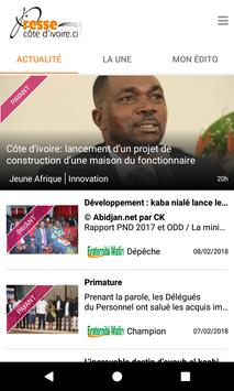 Presse Côte d'Ivoire screenshot 2