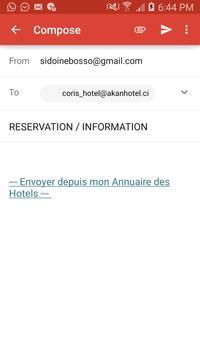 Annuaire Hotel Mobile apk screenshot