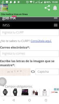 Cita Medica Imss en linea screenshot 1