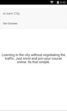 eLearn apk screenshot