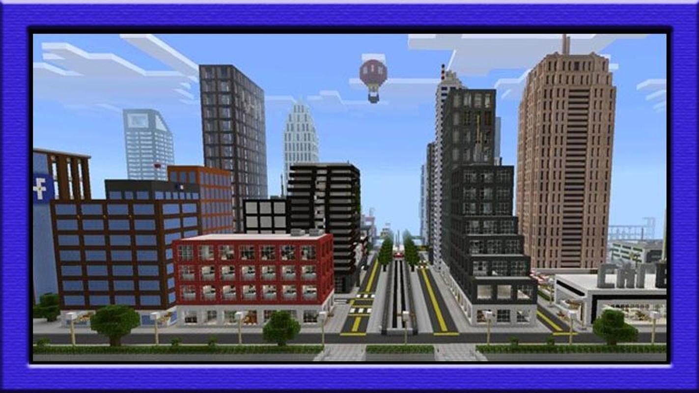 карта город для майнкрафт пе 0.13.0 #11