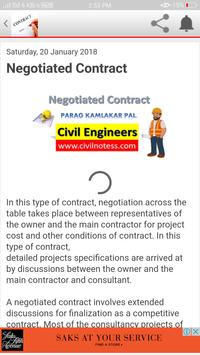 Civil Engineering Contract documents apk screenshot