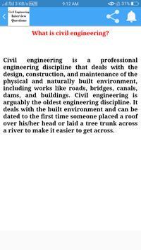 Civil Engineering Interview Questions screenshot 2