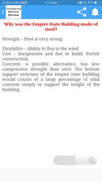 Civil Engineering Interview Questions screenshot 4