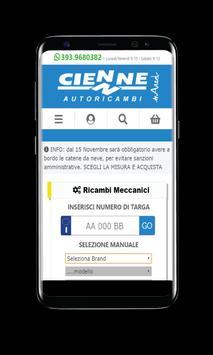 cienneautoricambi.com screenshot 1