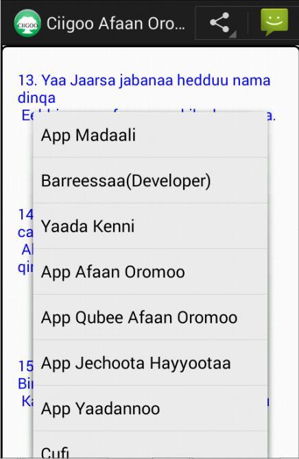 Ciigoo Afaan Oromoo for Android - APK Download