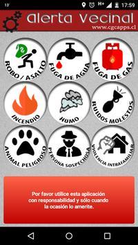 Alerta Vecinal Jardín del Sur poster