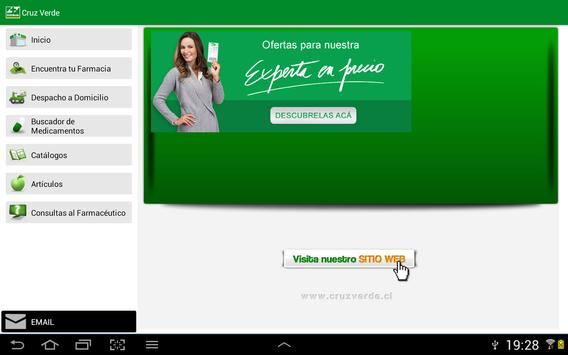 Cruz Verde Tablet apk screenshot