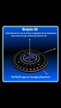 Brújula 3D (sensor magnético) apk screenshot