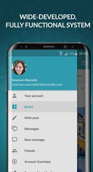 3 Schermata FutureNet your social app