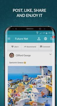 2 Schermata FutureNet your social app