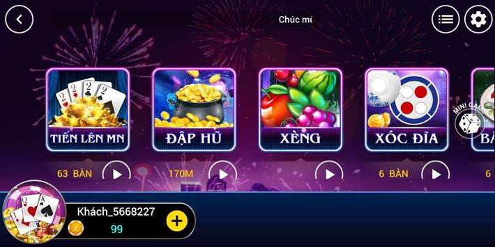 Win.club - Game bai, Danh bai tien len doi thưởng screenshot 1