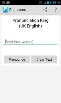 Pronunciation King UK English poster