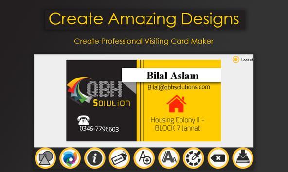 Business card maker para android apk baixar business card maker imagem de tela 4 reheart Images