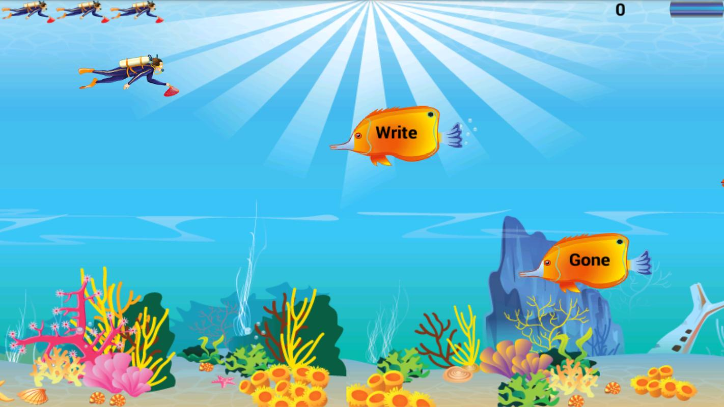 Kids english grammar fish game apk baixar gr tis for Fishing game android