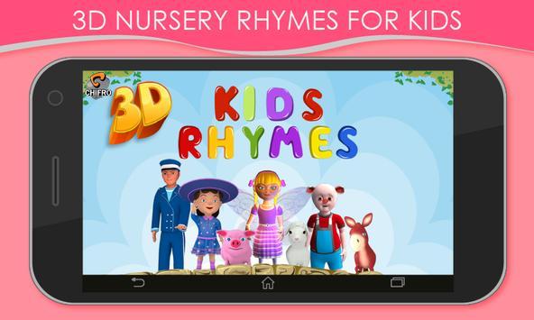 3D Nursery Rhymes for Kids poster
