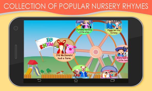 3D Nursery Rhymes for Kids screenshot 1