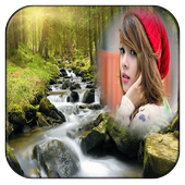 Natural Waterfall Photo Frames icon