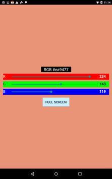 RGB Screen apk screenshot