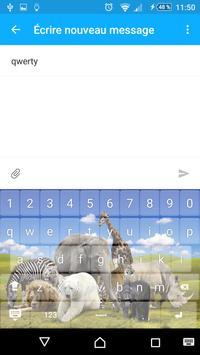 keyboard theme Animals apk screenshot