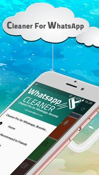 Cleaner for Whatsapp, Booster, Phone Cleaner Pro poster