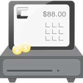 Tablet point of sales system icon