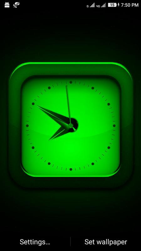 ... Clock Live Wallpaper App screenshot 5