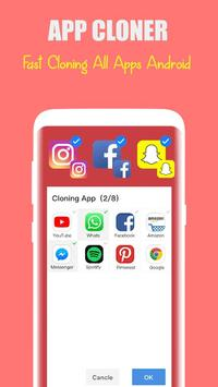 dual space: multi users - multi account, clone app screenshot 3