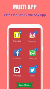 dual space: multi users - multi account, clone app screenshot 1