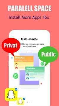 dual space: multi users - multi account, clone app screenshot 2