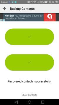 Easy backup contacts screenshot 3