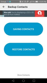 Easy backup contacts apk screenshot