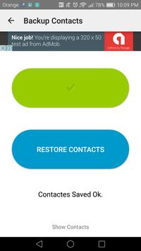 Easy backup contacts screenshot 2