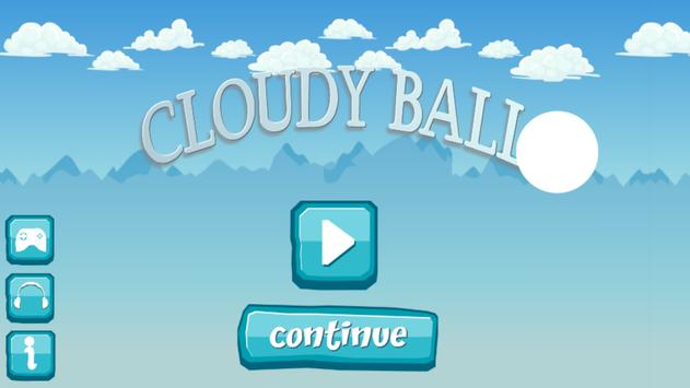 cloudy ball poster