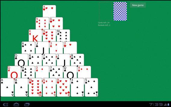 Solitaire Pyramid HD apk screenshot