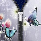 Butterfly Lock Screen Zipper icon