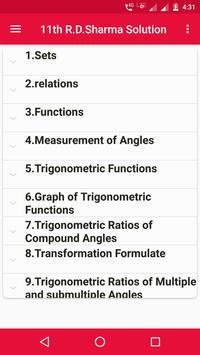 R.D.Sharma 11th Maths Solution poster