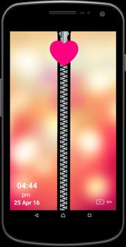 Blur Lights Zipper Screen poster