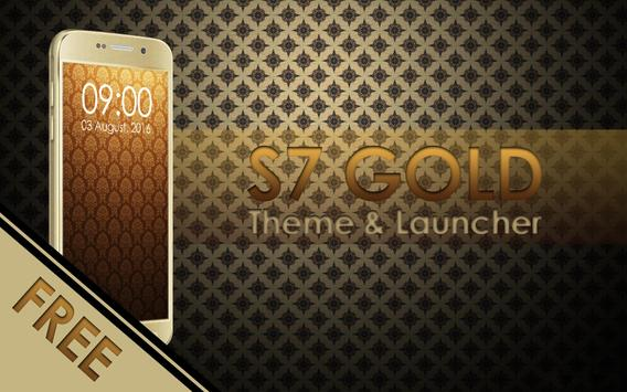 Theme for Galaxy S7 Gold poster